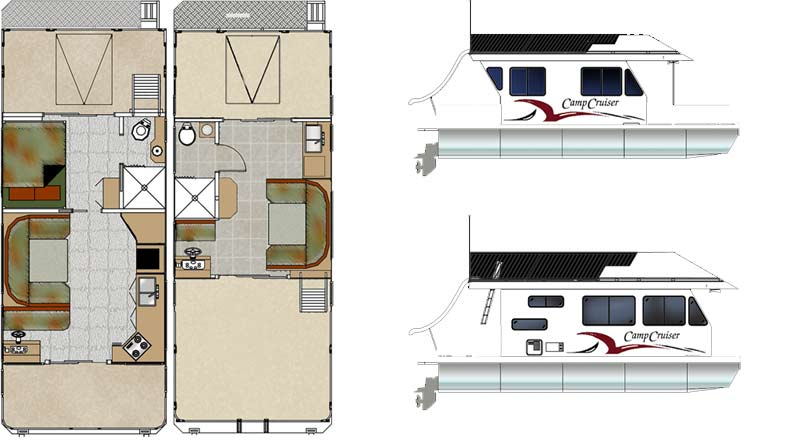 House boat floor plans house plans home designs for Boat house designs plans
