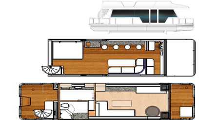 DIY House Boat Plans - Recreational Watercraft