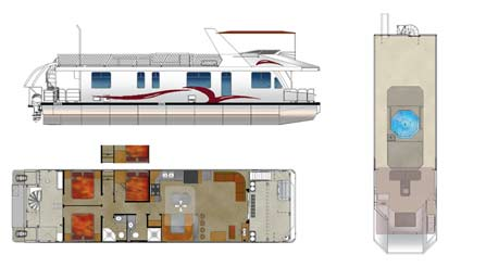 Journey 6216 Houseboat Floorplan